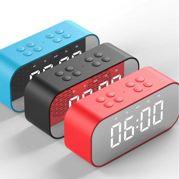 BT501 Bluetooth Speaker LED Relógio Despertador Sem Fio Mini Espelho com Tela Relógio Cartão De Transmissão de Recebimento Pequeno Som