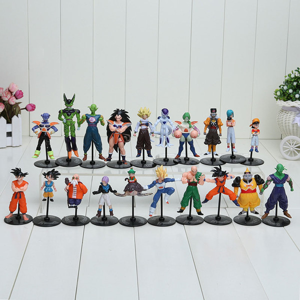 20pcs / Set Dragon Ball Z Gt Figurines Crazy Party 10cm Cellule / Freeza / Goku Pvc Dragonball Chiffres Meilleur Cadeau