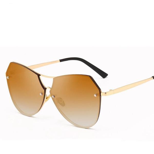 Kadınlar Yuvarlak Çift Kiriş Güneş Erkekler Şeffaf lens Ayna Güneş Gözlükleri UV400 Gafas Masculino Sol Yeni Bağbozumu Kadın LJJS209
