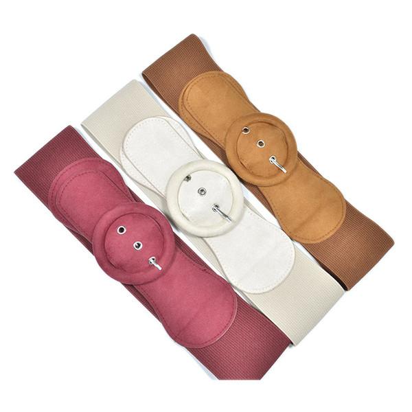 Cloth Girdle Extra Wide Belt Slim Waistband Women Pin Buckle Large Elasticity Dress Decoration 13gle F1