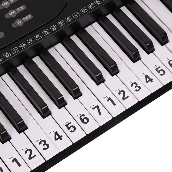 88 Key Piano Sticker Transparent Piano Keyboard Sticker Electronic Keyboard 88 Key Stave Note For Keys
