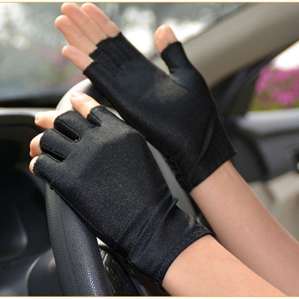 silk feel half finger gloves breathable tight fitness exercise training gloves women cool