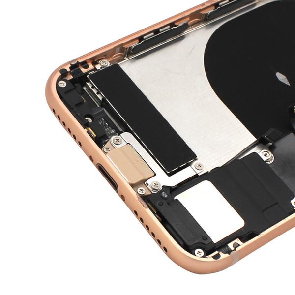 Per iPhone 8 8 Inoltre alloggiamento della copertura posteriore dell'alloggiamento della copertura del corpo della batteria con il cavo della flessione con trasporto libero