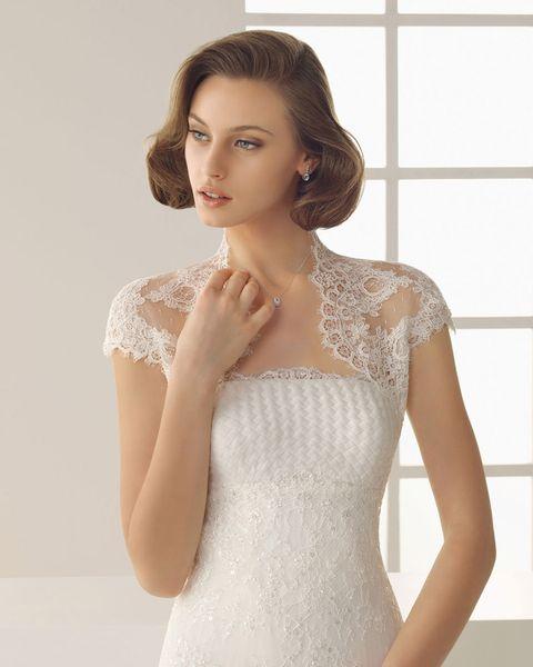 Elegant Wedding Shawl Lace Women White Tulle Wrap Cardigan shrugging accessoriess Cover Bolero Wedding Jacket