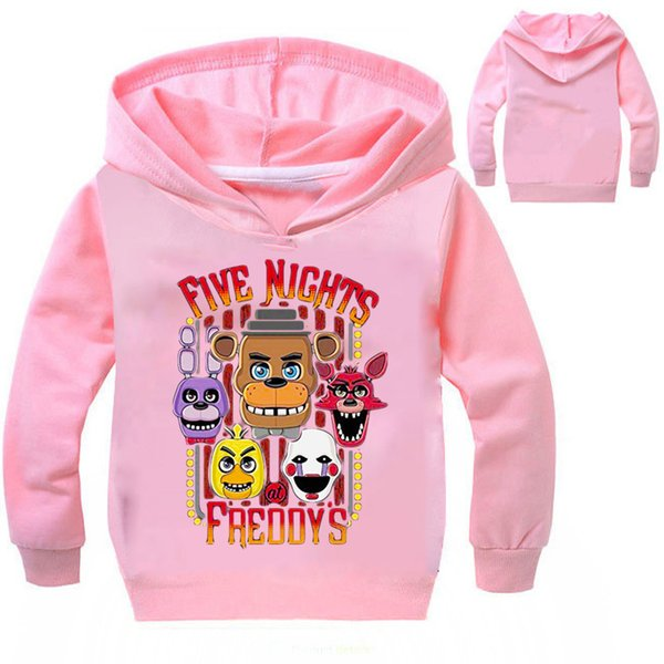 2019 New 3 To 12Years Five Nights At Freddys FNaF Clothing Children Kids Boys Girl Long Sleeve T Shirts Outerwear Child