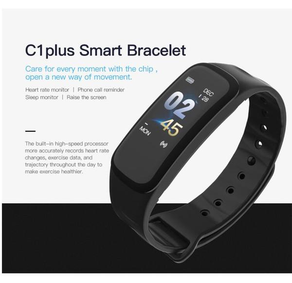 C1S Bluetooth Reloj Inteligente Multifunción Pasómetro Monitor de Ritmo Cardíaco Pulsera Inteligente Hombre Wowen Niños Pulseras Relojes Relojes Deportivos Para Teléfono
