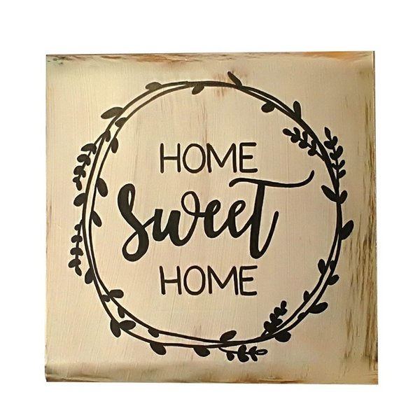 2019 Hot Sale Decorative Rustic Wood Signs Home Sweet Sign Plaque Housewarming Gift Farmhouse Style Distressed Ornament From Anzhuhua 35 45