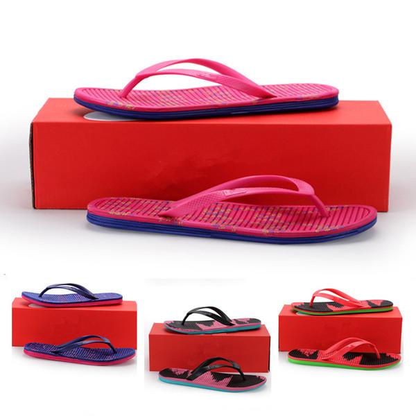 2019 Hot Sale Summer Flip Flops Sandals Outdoor Shoes Couples Slippers for High quality Purple Blue Men Women Beach Slipper Size 36-44