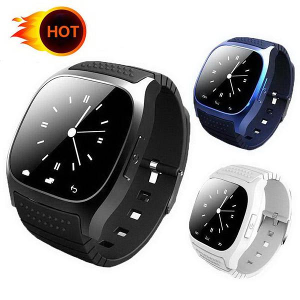 En ucuz M26 Akıllı Izle Su Geçirmez Bluetooth LED Alitmetre Müzik Çalar Android Iphone Akıllı Telefon Için Pedometre Smartwatch