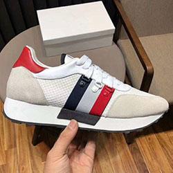 2020 zapatos de cuero deportivos europeos estación de lujo para los hombres casuales zapatos de moda versátil de tela de estiramiento de los hombres respirables 100782