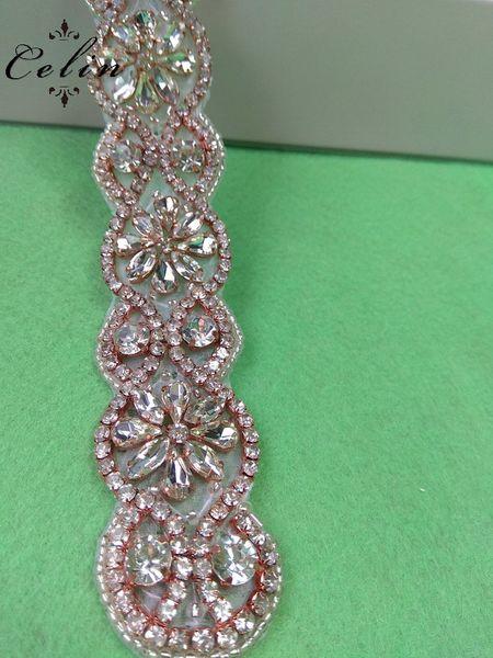 Fatta a mano in ferro su cintura Sash Cintura applique perla per abiti da sposa Crystal Hotfix strass decoro decorativo nuziale