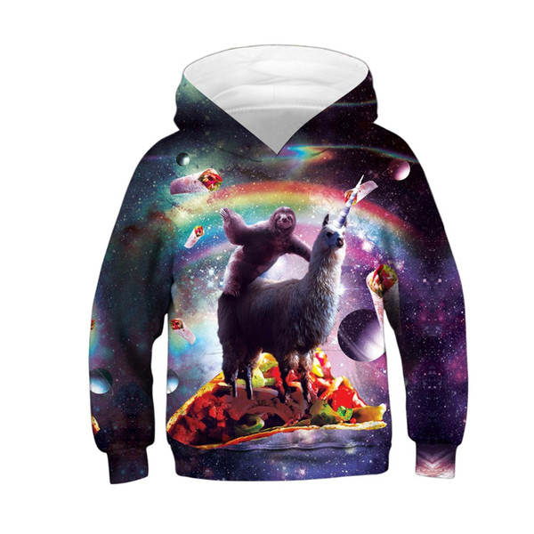 Acheter SWEOLSO Enfants Sweatshirts Garçon Fille Imprimés 3D Sweat Shirts À Capuche Enfants Sweats À Capuche Aucun Manteau À Cordon Pour Les 4 13