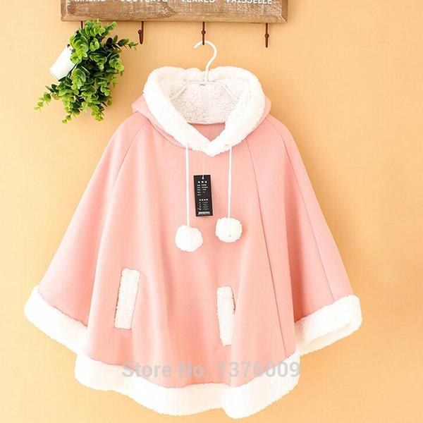 school cute Women Winter Cloak Coat Jacket Wothout Button Women's Coat Mori Girl Sweet Outwear Harajuku School Commute Cute