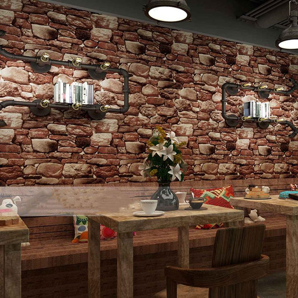 10m X 0.53m PVC Vintage Rustic Stone Brick Background Wallpaper Roll Living Room Bedroom Background 3d Wall Paper Waterproof