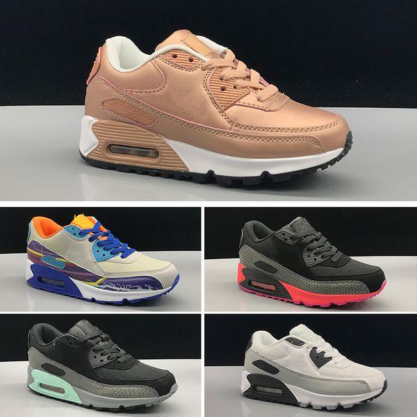 Compre Nike Air Max 90 90 II Zapatillas Presto Zapatillas Para Niños Sin Cordones Para Niños Deportes Ortopédicos Jóvenes Entrenadores Para Niños