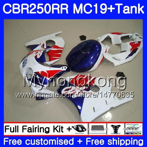 Injection Mold Body+Tank For HONDA CBR 250RR 250R CBR250RR white hot sale 88 89 261HM.22 CBR 250 RR MC19 CBR250 RR 1988 1989 Fairings Kit