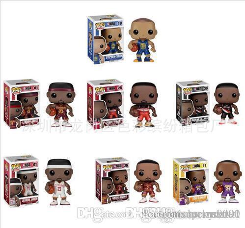 Лаки рынка Funko POP баскетбол человек Винил фигурку с Box Популярные игрушки хорошего качества для детей, подарочные игрушки мультистиле