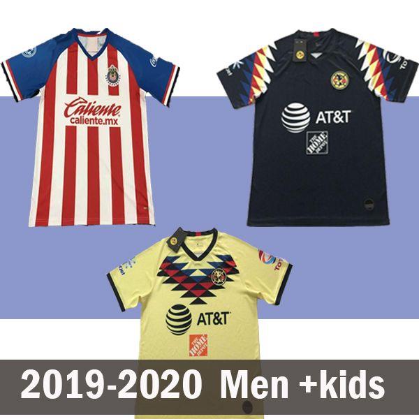America Gold Cup 2019 20 Club Cuervos Home Chivas 2020 Erwachsene Kinder USA Fußball Jersey Männer Fußball SHIRT Uniform Club de 19 20
