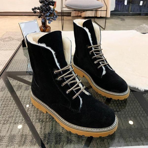 Snow Boots Shoes Plus Velvet Classic Warm Fur Plush Lace-Up High Top Lady Shoes Zapatos de hombre Winter Footwears Retro Keep Warming Boots