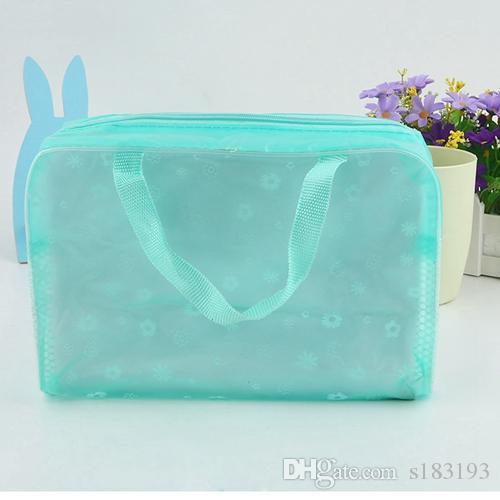 Mini niedliche große KapazitätWasserdichte doppelte Würfelform Designer Make-up Tasche zusammenklappbare tragbare Kosmetiktasche transparente Waschbeutel