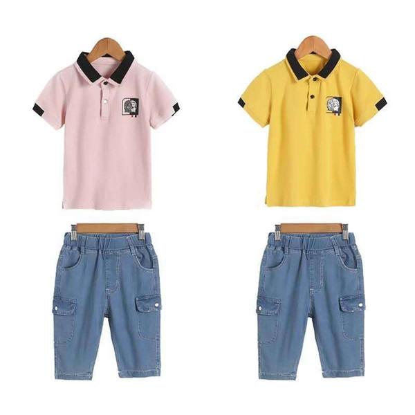 2019 Summer Boys Clothes Sport Suit Set Fashion Casual Short Sleeve Children's Clothing Set 2 Pieces T-Shirt + Pants