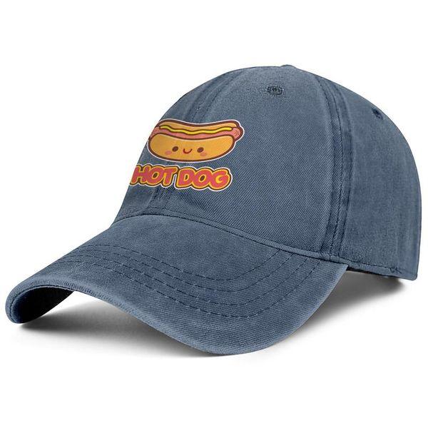 National Hot Dog Day cartoon young men Sport Denim baseball hat printed adjustable woman sun cap best Hip-hop cap mesh hats