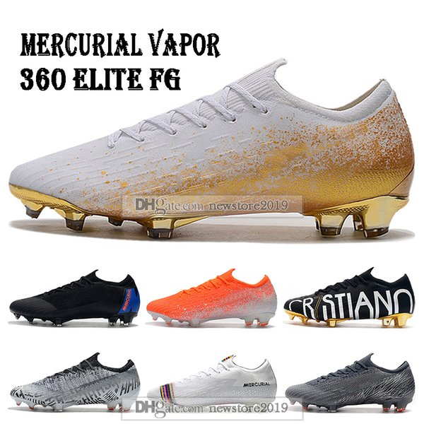Mens Low Ankle Football Boots Mercurial Vapors Fury XII VII Elite FG Soccer Shoes CR7 Superfly VI 360 Neymar ACC Soccer Cleats
