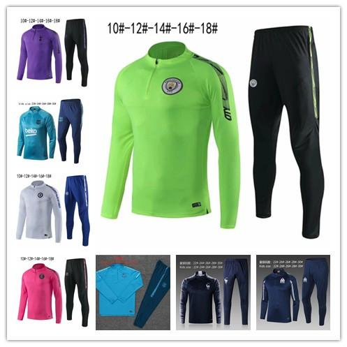 kids 2019-2020 Paris Football training suit psg City soccer tracksuit MBAPPE jogging Marseilles jacket 19/20 Soccer Wear Sets