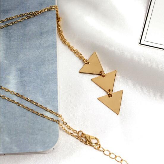 19WN15 style de bijoux de mode de conception de plume de mutipul simple, argent plaqué or accessery populaire Nouvelle arrivée à double chaîne grand collier Pandent