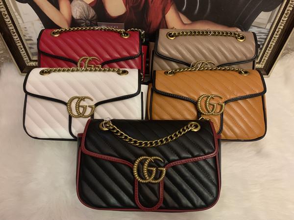 2020 moda Avrupa ve Amerikan yeni PU çanta debriyaj çanta zincir omuz çantası gfg DFD gfgs
