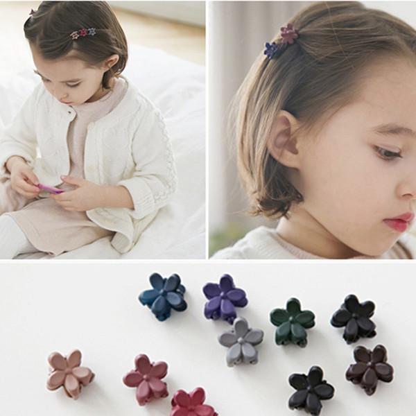 10pcs/lot Girls Cute Colorful Cherry Blossoms Small Hair Claws Princ Lovely Hair Clip Hairpins Headband Kids Hair Accories