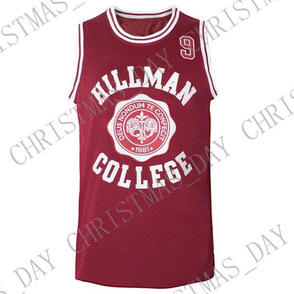 Personnaliser un autre monde Maillot de basket-ball Dwayne Wayne 9 Hillman College Theatre Personnalisez n'importe quel nom, sous le nom de Maillot XS-5XL