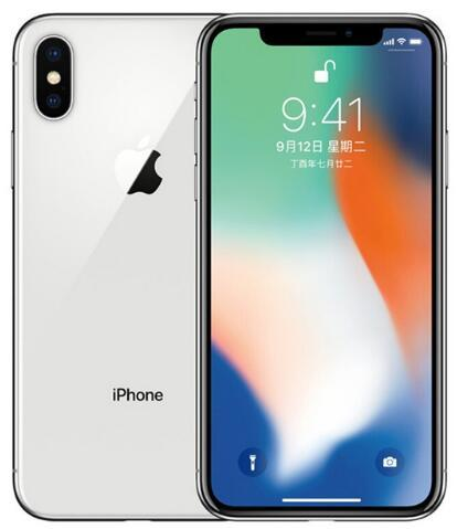 "Original Unlocked Apple iPhone X Hexa Core Mobile Phone 256GB/64GB ROM 3GB RAM Dual Rear Camera 12MP 5.8"" 4G LTE refurbished phone"
