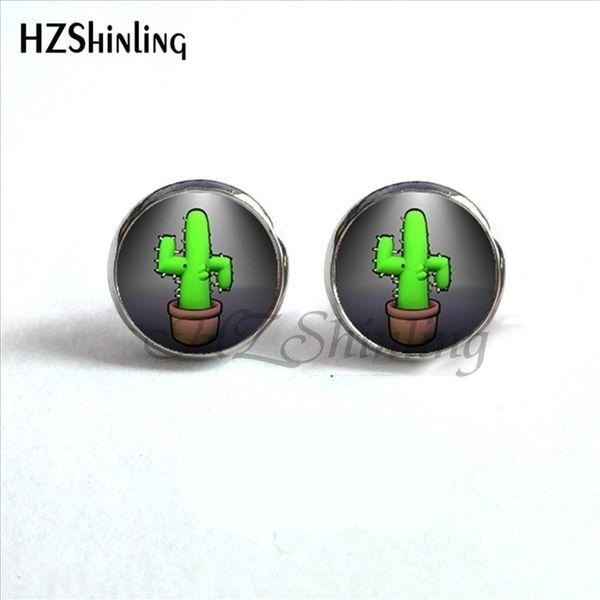 Nuovo arrivo Cactus Orecchini Lovely Cartoon Cactus e palloncini cupola di vetro rotonda orecchini gioielli moda HZ4 ED-0037