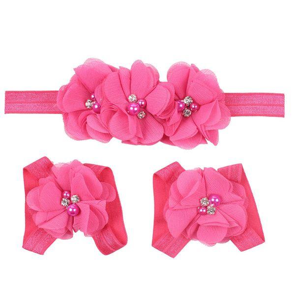 Calcetines descalzos para bebé Sandalias y diadema Conjunto con zapatos de niñas de diamantes de imitación Adornos para pies de tul para niños Calcetines recién nacidos de flores para bebés