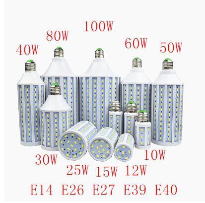 SMD573030W 40W 50W 60W 80W Ampul B22 E26 E27 E14 E39 E40 LED Lamba Ampul 85-265V / AC Mısır Ampul Işık Ampullerimize LED