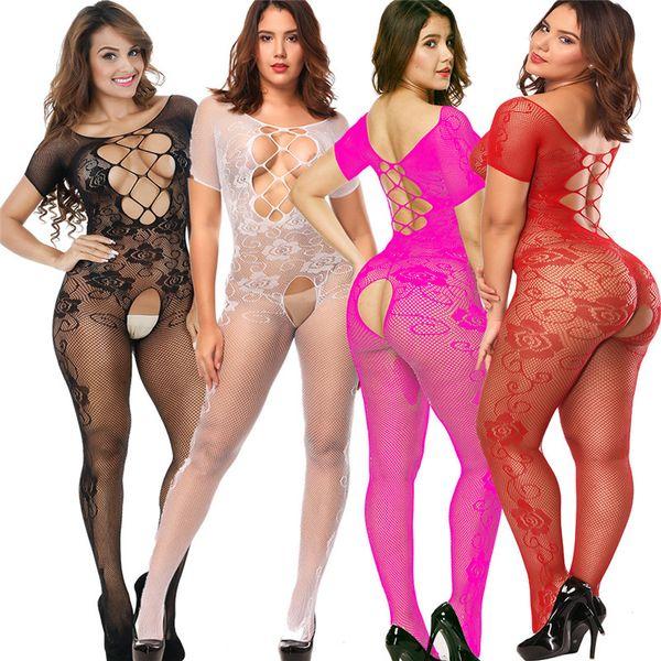 Женщины Сексуальное женское белье Плюс Размер Горячее эротическое белье Babydoll Ажурные Пижамы Секс костюмы Lenceria Erotica Mujer Sexi