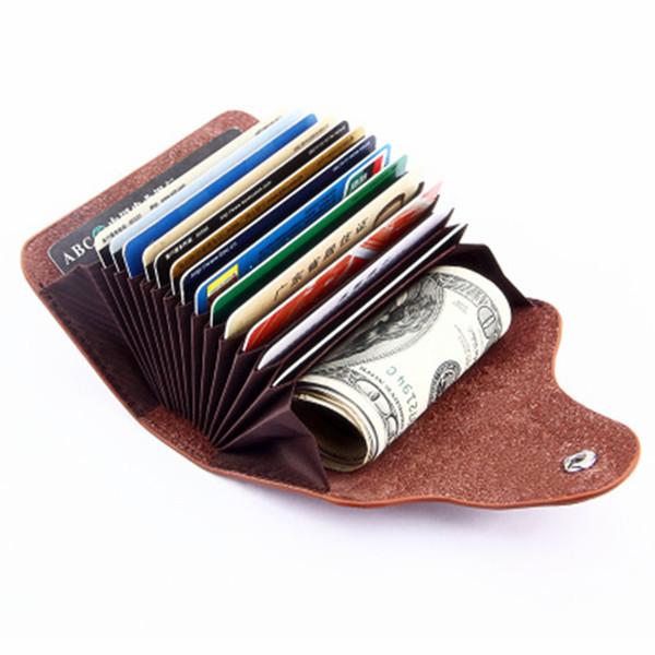 Großhandel Echtes Leder Unisex Visitenkartenhalter Brieftasche Bank Kreditkartenetui Id Inhaber Frauen Karteninhaber Porte Von Garden One 12 45 Auf