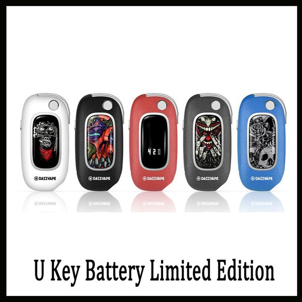 Authentic Dazzvape U Key Battery Limited Edition 350mAh Preheat Variable Voltage Flip Box Mod for 510 Thick Oil Cartridges DHL free-1