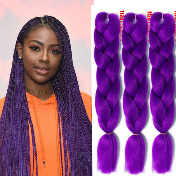 24\u0027\u0027 Fashion Jumb Braiding Twist Box Sythentic Hair Weaves Extensions For  Black Women Crochet Braids Hair Bulks Solid Color Hair Extensions UK 2019