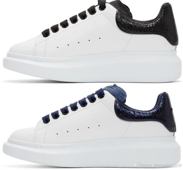 Дизайнер Мужчины Женщины Кроссовки Повседневная Обувь Мода Смарт Платформа Кроссовки Световой Флуоресцентный Обуви Змея Назад Кожа Chaussures Pour Hommes