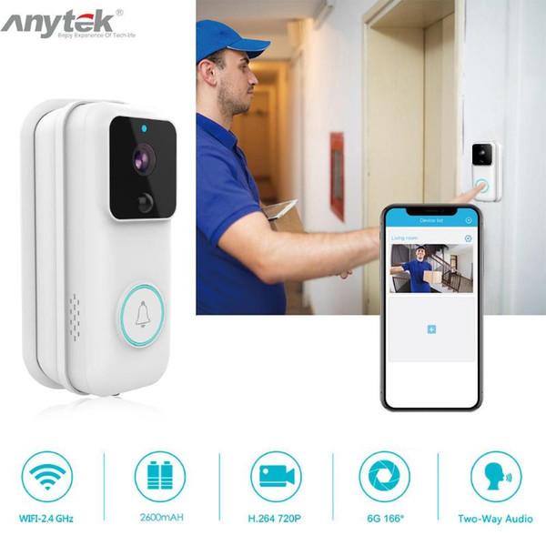 Campanello della macchina fotografica HD 1080P WIFI Smart Wireless Video campanello per porte citofono visivo IP campanello per porte Cloud Storage Sicurezza Wireless