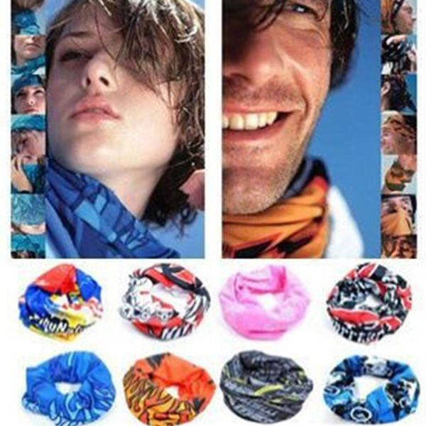 Magisches Stirnband Motorrad Halstuch Polyester Bandana Mikrofaser Kopfbedeckung Nahtlose Tubular Hijab Halsrohr Sportschal Maske
