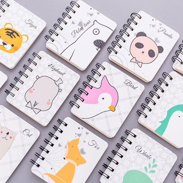 80 Sheets Kawaii Mini Diary Coil Book Cute Sketchbook Bullet Journal Notebook Paper Weekly Planner Accessories Stationery