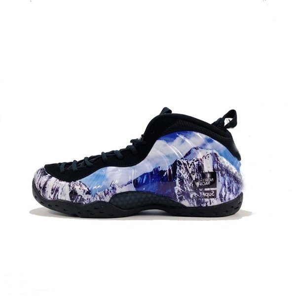 Mens penny hardaway basketball shoes Purple Copper Abalone Royal Blue Floral Firework youth kids foams one posite sneakers tennis with box