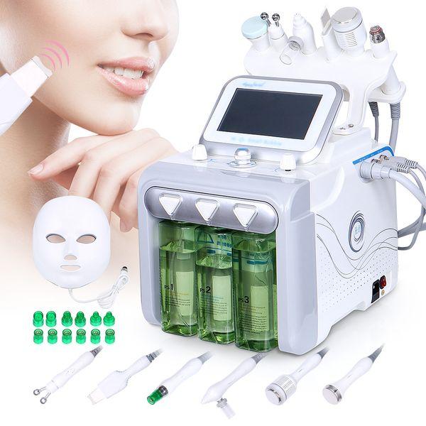 Высокое качество 6 in1 Hydro Water Microdermabrasion Алмазная дермабразия Ультразвуковая глубже чистая машина для ухода за кожей лица