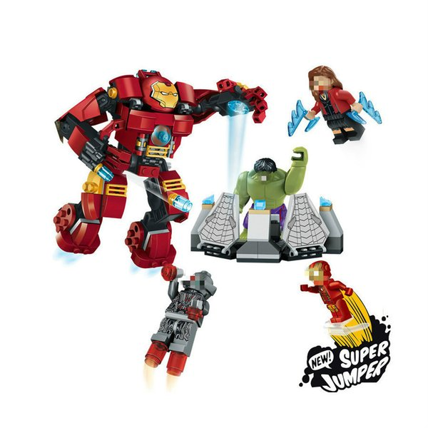 top popular Compatible With ingly Marvel Super Heroes 76031 Avengers Building Blocks Ultron Figures Iron Man Hulk Buster Bricks Toy 2020