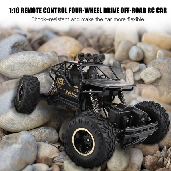 2.4GHz 1/16 Scale RC Model Off-road Car Toy Remote Control Four-Wheel Drive Vehicle Driving Car Double Motors Drive Bigfoot Car
