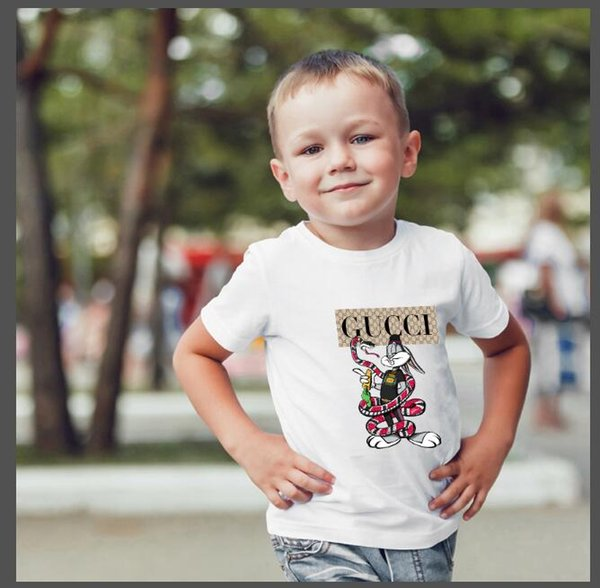 2019 fashion children's wear polo shirt t-shirt children O-neck short-sleeved T-shirt boy clothing brand solid color girls classic cotton