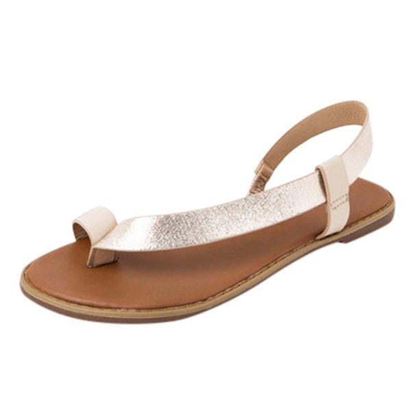 Zapatos de la venta caliente-xiniu mujeres sandalias de la plataforma del dedo del pie abierto banda elástica de los calzados informales Paseo de la playa de las mujeres T-correa de sandalias flip flop # 0523
